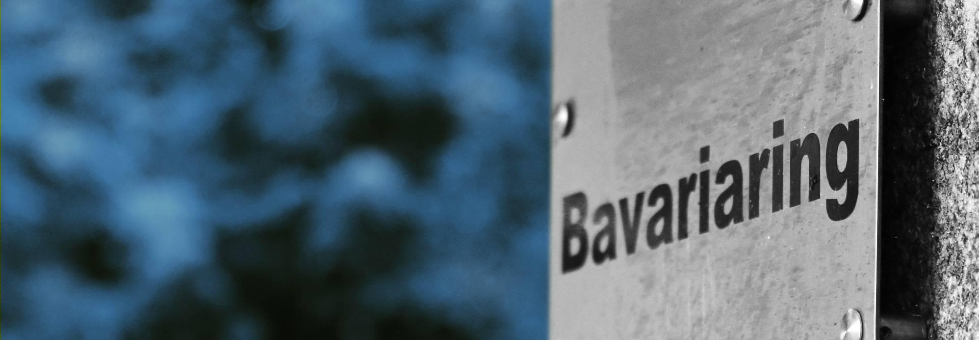 Schild Bavariaring München blau